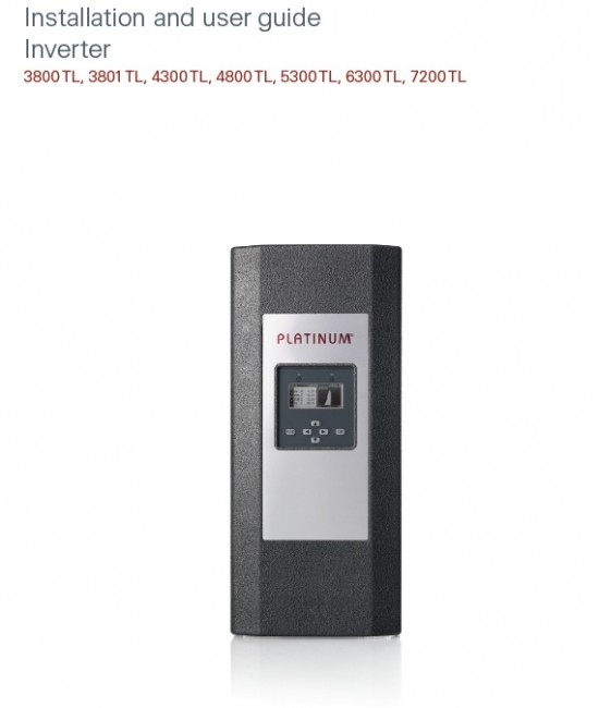 Inverter Platinum 4300TLD اینورتر سینوسی متصل به شبکه پلاتینیوم سری TLD